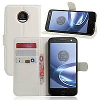 Чехол-книжка Litchie Wallet для Motorola Moto Z XT1650 Белый
