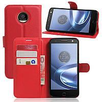 Чехол-книжка Litchie Wallet для Motorola Moto Z XT1650 Красный