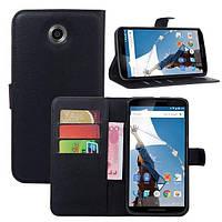 Чехол-книжка Litchie Wallet для Motorola Nexus 6 XT1103 Черный