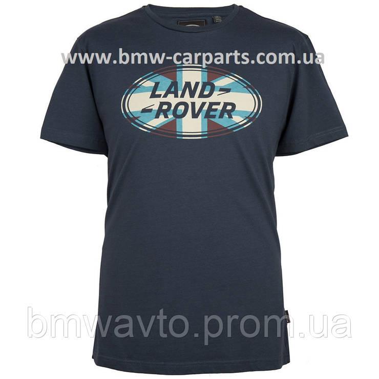 Мужская футболка Land Rover Men's Union Flag Graphic T-shirt, Navy, фото 2