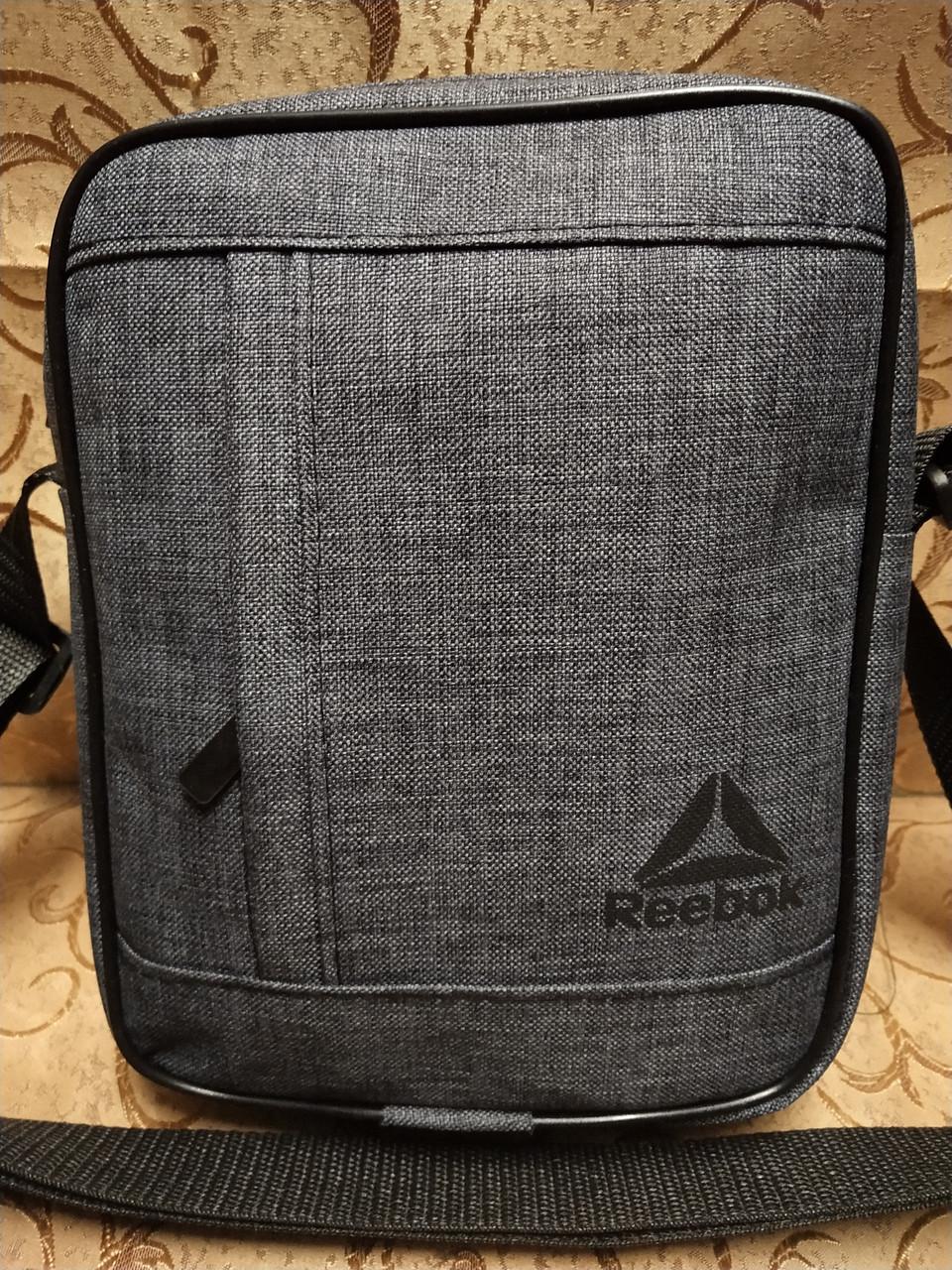 (24*19-большое)Барсетка reebok сумка спортивные мессенджер для через плечо Унисекс ОПТ