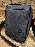 (24*19-большое)Барсетка reebok сумка спортивные мессенджер для через плечо Унисекс ОПТ, фото 2