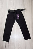 """Штаны , брюки на мальчика черные """"Polo"""" . 5 -8 лет . Турция, фото 1"""