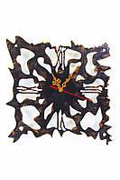 """Часы настенные  """"Атлантида"""" 40 см (черный мат + медь). Стильный подарок для лучших друзей!!"""