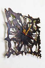 """Часы настенные  """"Атлантида"""" 30 см (черный мат + медь)., фото 2"""