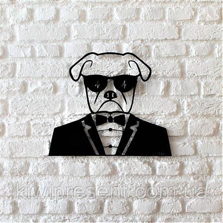 "Картина из металла  ""Мистер Бокс"" (черный мат). Панно на стену., фото 2"