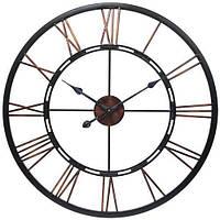 """Настенные часы  """"Колесо..."""" (90 см). Стильные классические часы на стену большого размера."""