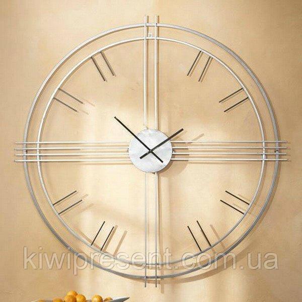 """Настенные часы  """"Элегия"""" (80 см). Изысканные стильные часы на стену из металла."""