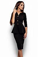 (S, M, L, XL) Стильне офісне чорне плаття Fibi