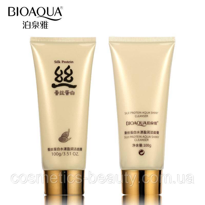 Пенка для умывания Bioaqua с шелком Silk Protein