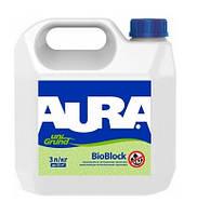 Aura Unigrund BioBlock 5 л грунтовка универсальная акриловая 4820166520381