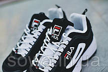 "✔️ Кроссовки Fila Disruptor II ""Black/White Pack"" , фото 3"