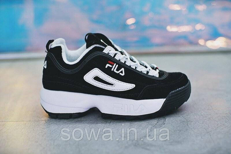 "✔️ Кроссовки Fila Disruptor II ""Black/White Pack"""