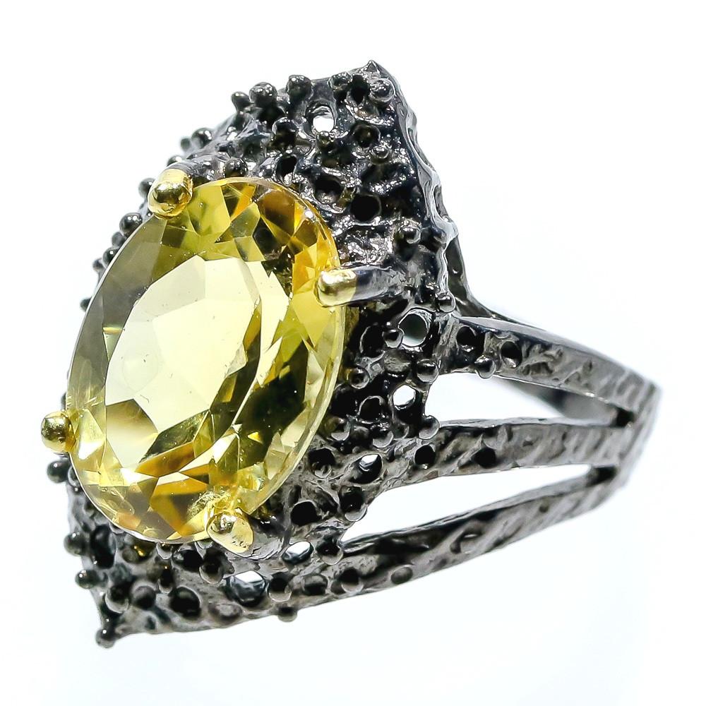 Кольцо ручной работы с Цитрином