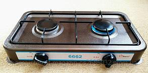 Газовая плита на две конфорки DOMOTEC MS-6662,газовая плита