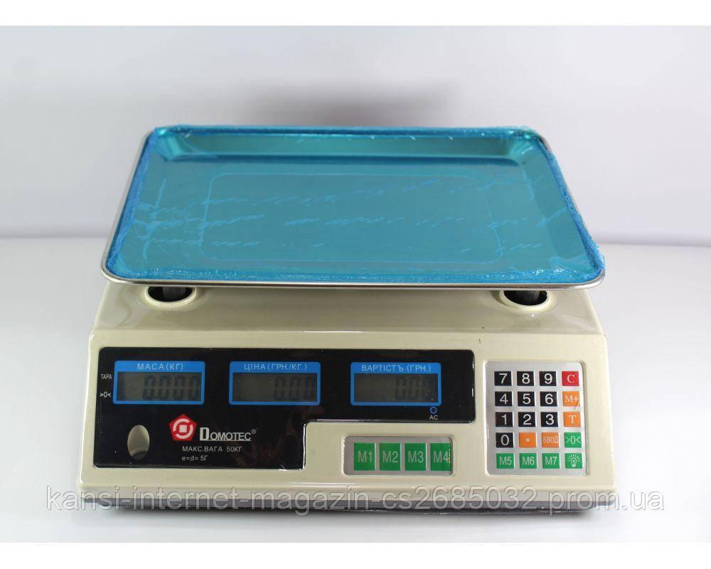 Ваги торгові ACS 50kg/5g MS 228 Domotec 6V,електронні ваги