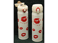 Термокружка с поилкой Kiss 500 мл Т144-19,термочашка