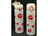Термокружка з поїлкою Kiss 500 мл Т144-19,термочашка