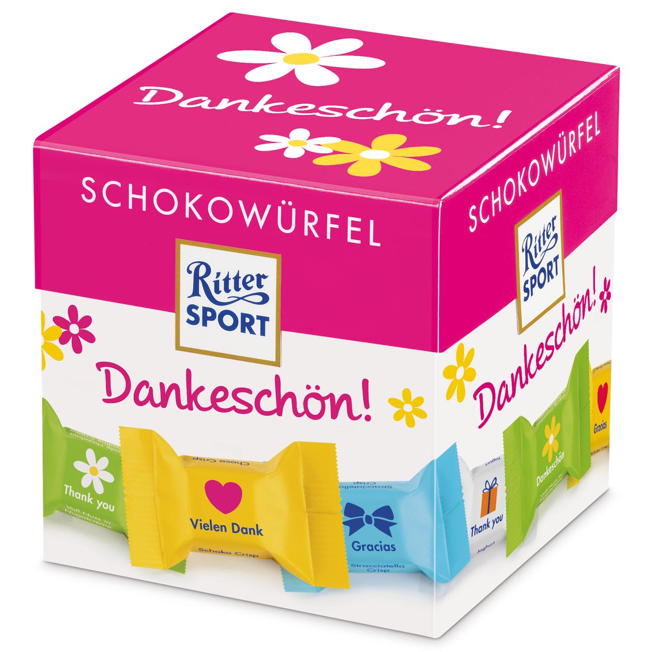 Набор шоколадных конфет Ritter Sport Schokowurfel Dankeschon, 176 г.