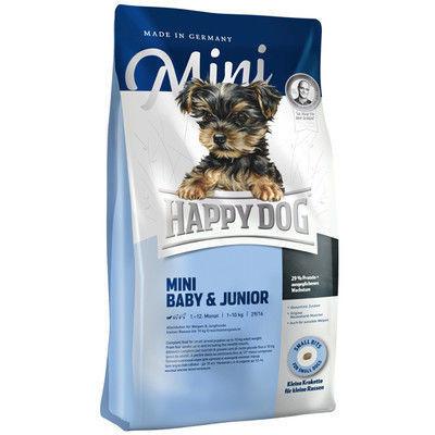 Сухой корм HAPPY DOG Mini Baby&Junior для щенков малых пород, 10 кг
