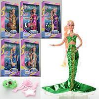 Кукла DEFA 20983 (48шт) русалка, 29см, меняет цвет волос, морск.обитатель, 6цв,в кор-ке, 18-33-5,5см