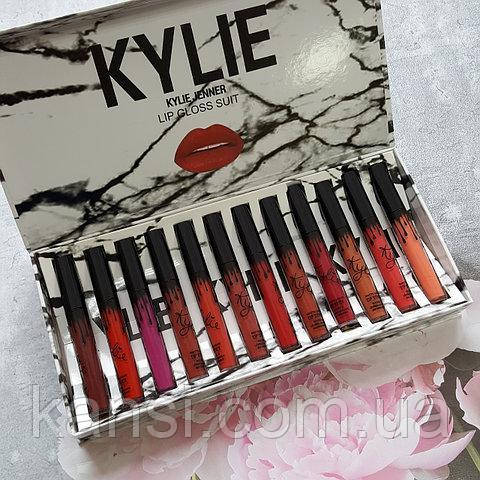 Помады Kylie Jenner Lip Gloss Suit 12 штук