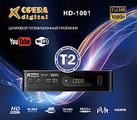 Тюнер Т2 OPERA DIGITAL HD-1001 DVB-T2, ТВ тюнер, цифровое телевидение