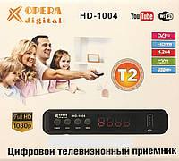 Тюнер Т2 OPERA DIGITAL HD-1004 DVB-T2 цифровое телевидение, Т2 приставка