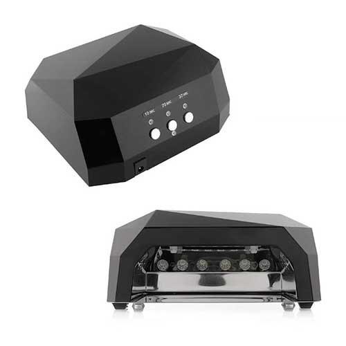 УФ LED+CCFL Гибридная лампа для гель-лаков и Геля 36 watt ЧЁРНЫЙ