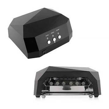 УФ LED+CCFL Гібридна лампа для гель-лаків і Гелю 36 watt ЧОРНИЙ