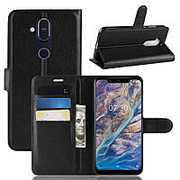 Чехол-книжка Litchie Wallet для Nokia 7.1 plus Черный