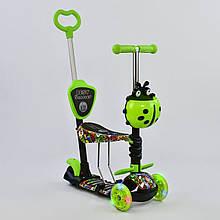 Самокат 5в1 97630 Best Scooter, АБСТРАКЦІЯ, PU колеса, ПІДСВІЧУВАННЯ КОЛІС, в коробці