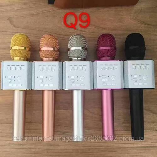 Бездротовий мікрофон караоке bluetooth MicGeek Q9 Karaoke з чохлом, мікрофон з вбудованою колонкою