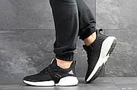 Мужские кроссовки Adidas  черные (Реплика ААА+), фото 1