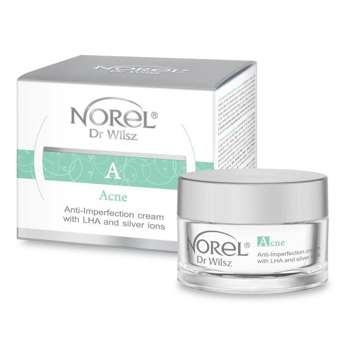 Противовоспалительный ультралегкий крем для жирной и склонной к акне кожеANTI-IMPERFECTION CREAM Norel 50 мл