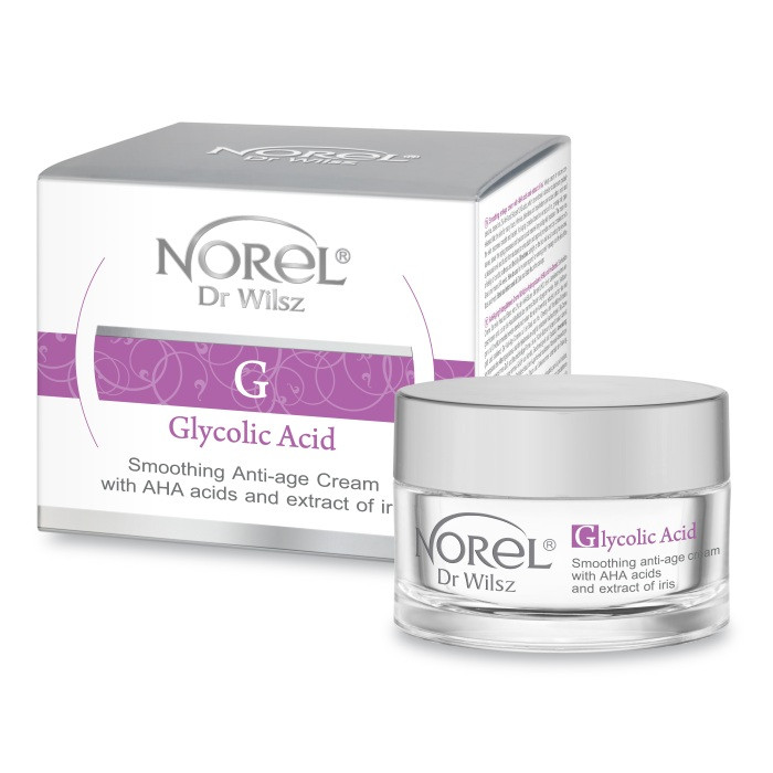 Омолаживающий крем с кисломами и аргановым маслом Норель  SMOOTHING ANTI-AGE CREAM WITH AHA ACID Norel 50 мл
