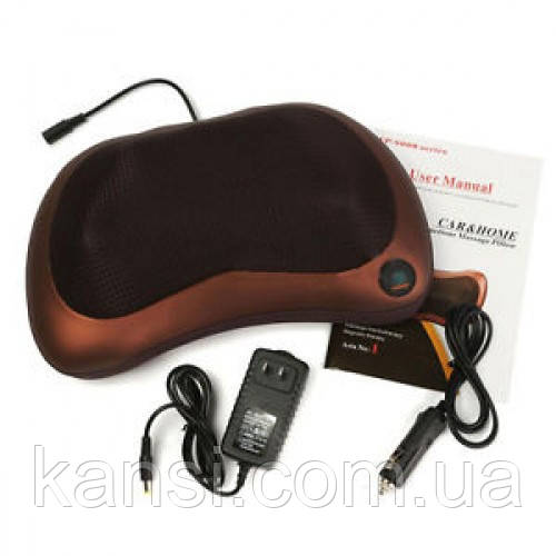 Массажная подушка подголовник Massage pillow for home and car 8028, виброподушка