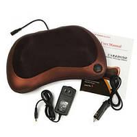 Массажная подушка подголовник Massage pillow for home and car 8028, виброподушка, фото 1
