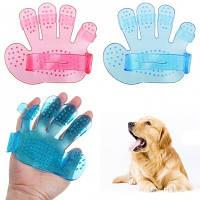 Щётка для купания животных силиконовая Pet Wash Brush, массажная щетка для животных
