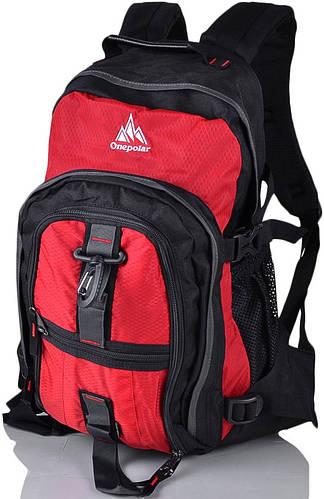 Мужской качественный городской рюкзак 25 литров Onepolar W1955-red красный