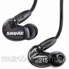 Shure SE215K миниатюрные наушники, 20 Ом