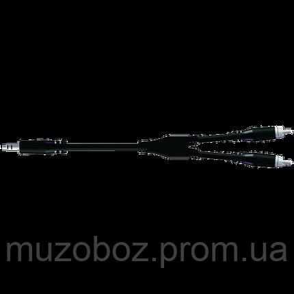 Кабель Proel Jack 3.5 M стерео - 2xRCA M (540 LU3) Bulk 3м, фото 2