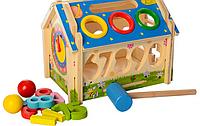 ДЕРЕВЯННАЯ ИГРУШКА Домик для детей M01454