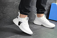 Мужские кроссовки Adidas белые (Реплика ААА+), фото 1