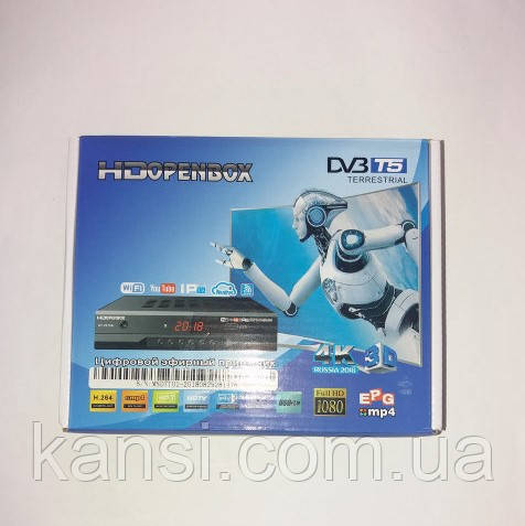 Приставка Т2 OpenBox T5 YouTube / WiFi / USB метал корпус, тюнер Т2, ТВ тюнер, приставка Т2, ТВ ресивер