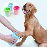 Лапомойка soft pet foot cleaner, лапомойка для собак и кошек, мытье лап животных, стакан для мытья лап