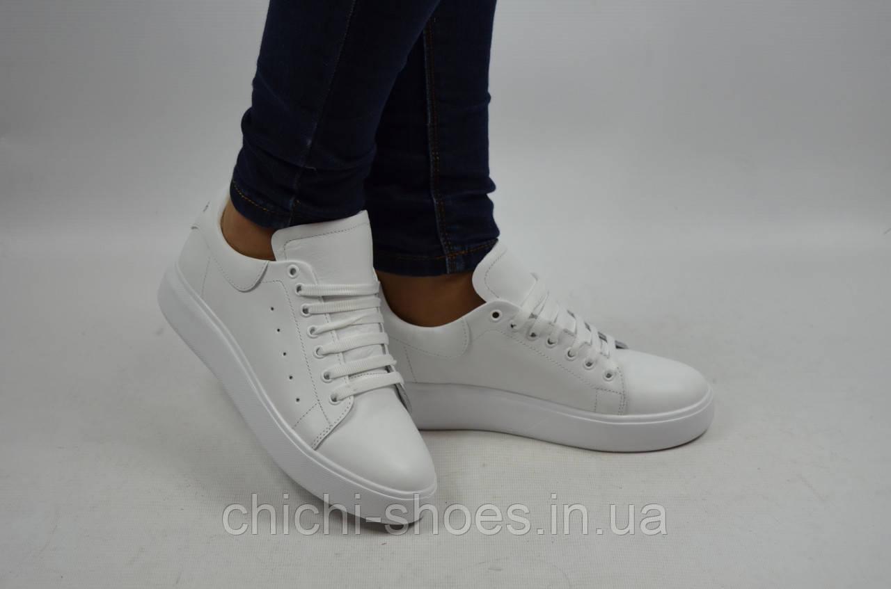 Туфли-мокасины женские DITAS 128-1 белые кожа