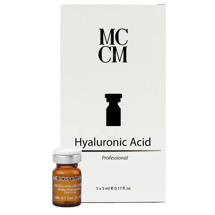 Гіалуронова кислота 3,5% флакони HYALURONIC ACID 3,5% Мезопрепараты МССМ 5 ml x 5 0001