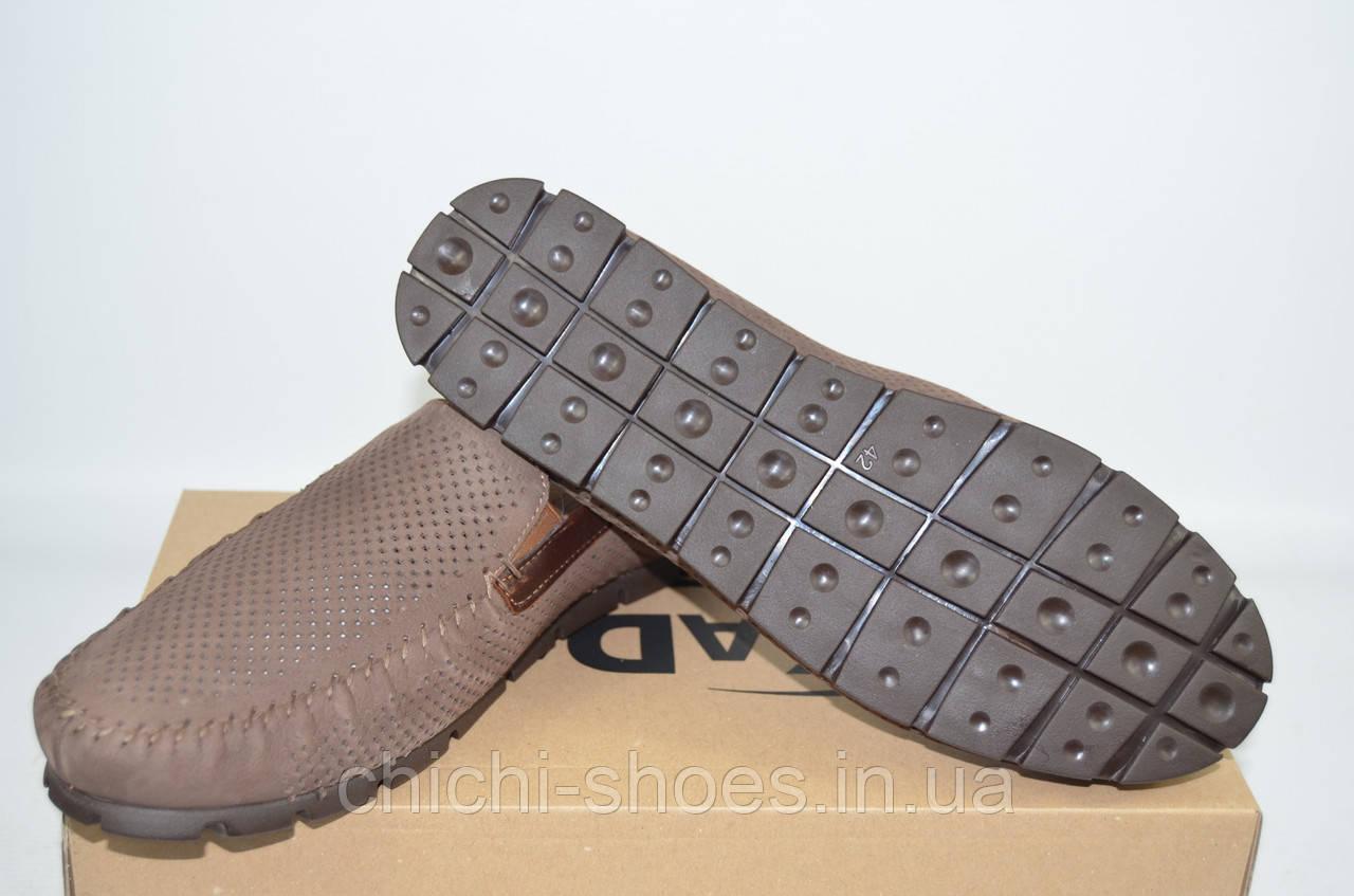 Туфли-мокасины мужские KADAR 2789797 коричневые нубук