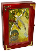 """Ключница настенная деревянная """"Сабли"""" 30 см"""